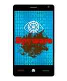Spyware Smartphone Immagine Stock