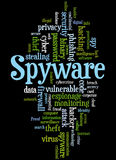 Spyware, word cloud concept 4 Royalty Free Stock Photography