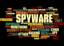 Spyware, word cloud concept 6 Stock Images