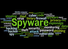 Spyware, word cloud concept 7. Spyware, word cloud concept on black background Royalty Free Stock Photos