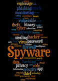 Spyware, word cloud concept 8 Stock Photo