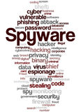 Spyware, word cloud concept 3 Stock Image