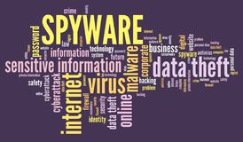 Spyware word cloud stock images