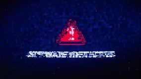 Spyware Wykrywająca teksta Cyfrowego hałasu drgania usterki wykoślawienia skutka błędu pętli animacja royalty ilustracja