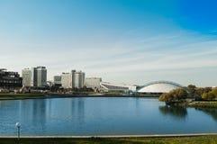Sq Nemiga minsk Vitryssland stad Royaltyfri Bild