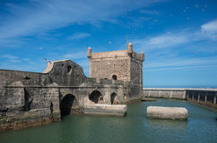 Sqala du Port  Northern Scala , a defensive tower at the fishi Royalty Free Stock Photo