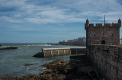Sqala du Port  Northern Scala , a defensive tower at the fishi Royalty Free Stock Photos
