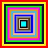 Sqare颜色的五颜六色 库存照片