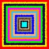 Sqare颜色的五颜六色 免版税库存图片