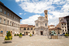 Sqare and chiesa di San Salvatore Ognissanti. Sqare and Chiesa di San Salvatore di Ognissanti. Italy, Florence Royalty Free Stock Photography