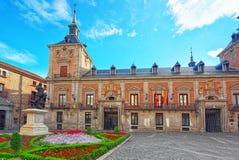 Sqare of Villa Plaza de la Villa- home to Casa de la Villa, th. E former Town Hall with people and tourists Stock Photos