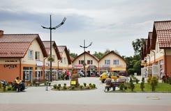 Sqare in Władysławowo. Poland in Wladysławowo. Poland.  Stock Photo