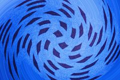 Sqaure dots swirl. Swirl of sqaure dots in blue tone Royalty Free Stock Images