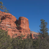 Sqaure Red Rock Sedona Landscape Stock Images
