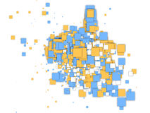 sqaures abstrakcjonistyczny błękitny kolor żółty Zdjęcia Royalty Free