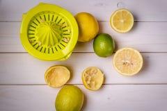 Sqeezer e citrinos Imagens de Stock Royalty Free