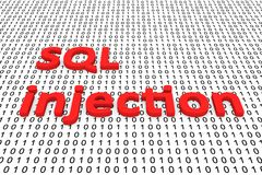 SQL injection Royalty Free Stock Images