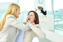 Squabble in office Royalty Free Stock Photo