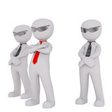 Squad of bodyguards Royalty Free Stock Photography