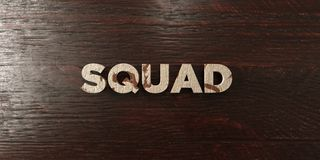 Squad - grungy wooden headline on Maple  - 3D rendered royalty free stock image. This image can be used for an online website banner ad or a print postcard Royalty Free Stock Photography