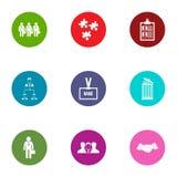 Squad icons set, flat style. Squad icons set. Flat set of 9 squad vector icons for web isolated on white background Stock Image
