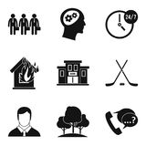 Squad icons set, simple style. Squad icons set. Simple set of 9 squad vector icons for web isolated on white background Royalty Free Stock Images