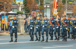 Squad of the rescuers and firefighters in Kiev, Ukraine Royalty Free Stock Photos