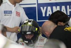 Squadra 2009 di Valentino Rossi Fiat Yamaha Fotografia Stock