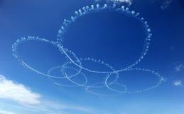 Squadra acrobatica dell'aeronautica fotografia stock