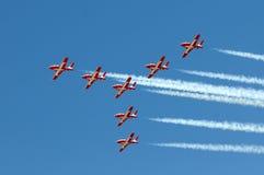 Squadra aerobatic degli Snowbirds canadesi Fotografia Stock Libera da Diritti
