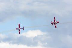 Squadra aerobatic degli Snowbirds canadesi Immagini Stock Libere da Diritti