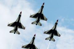 Squadra Aerobatic dei Thunderbirds Fotografie Stock