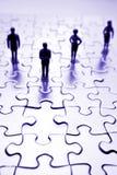 Squadra & puzzle Immagini Stock