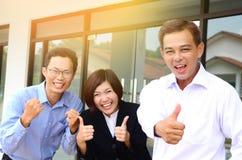 Squadra asiatica di affari Fotografia Stock