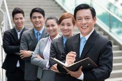 Squadra asiatica di affari Immagini Stock Libere da Diritti