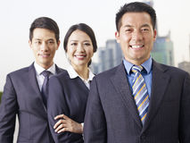 Squadra asiatica di affari Immagini Stock