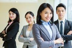 Squadra asiatica di affari Fotografia Stock Libera da Diritti