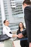 Squadra attraente felice di affari Immagini Stock