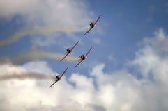 Squadra degli aeroplani Immagine Stock