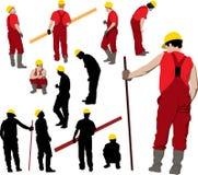 Squadra degli operai di costruzione Immagini Stock Libere da Diritti