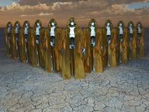 Squadra dei militari del robot dell'elite Fotografia Stock