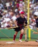 Squadra dei motivi di Red Sox Fotografia Stock