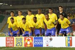 Squadra del Brasile U20 Fotografie Stock Libere da Diritti