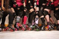Squadra del derby del rullo Fotografie Stock