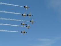 Squadra del jet di Breitling Immagini Stock Libere da Diritti