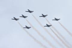 Squadra del jet di Breitling Fotografie Stock