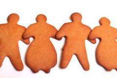 Squadra del pan di zenzero - maschio e femmina Fotografie Stock
