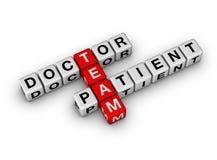 Squadra del paziente e del medico Fotografie Stock