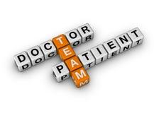 Squadra del paziente e del medico Fotografie Stock Libere da Diritti