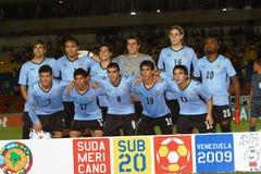 Squadra dell'Uruguai Fotografia Stock Libera da Diritti